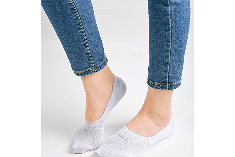 Women's No Show Socks, Cotton Low Cut Flat Boat Liner Non Slip Casual Short Socks