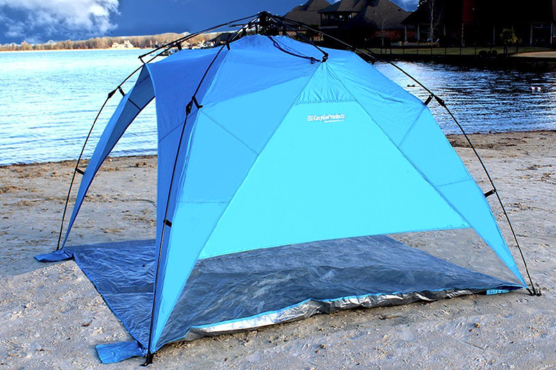 EasyGo Shelter XL - Instant Beach Umbrella Tent Pop Up Canopy Sun Sport Shelter with PVC Floor