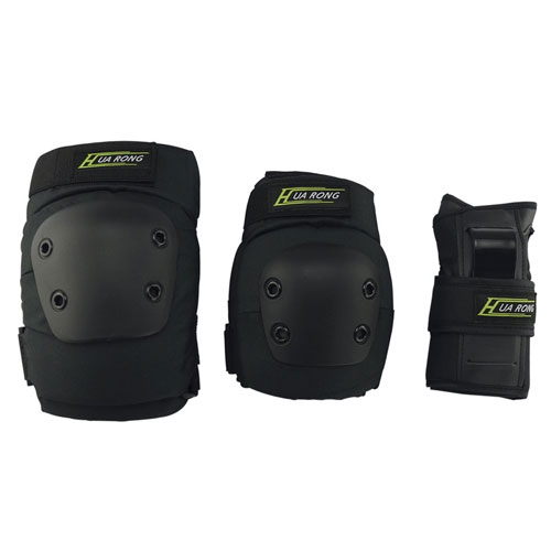 All nice 3 in 1 Knee Elbow Pads Wrist Guards Thicken Skateboard Skating Outdoor Knee Pads