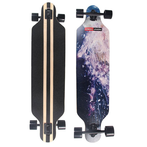 MAGIC UNION 41 Inch Maple Drop Down Long board Complete Skateboard
