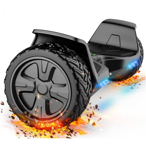 TOMOLOO Music-Rhythmed LED Hoverboard for Kids and Adult Two-wheel Self-balancing Scooter