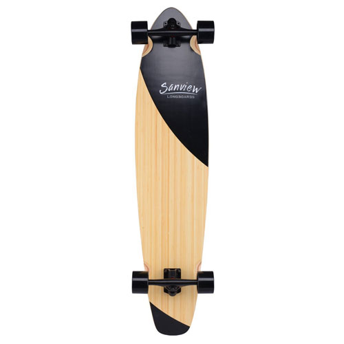 Sanview Bamboo Drop through Long board Skateboard Cruiser