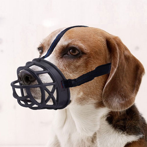 Dog Muzzle, Basket Breathable Silicone Dog Muzzle for Anti-barking and Anti-chewing