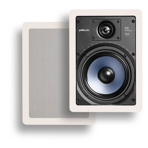 Polk Audio RC65i 2-Way In-Wall Speakers (Pair, White)