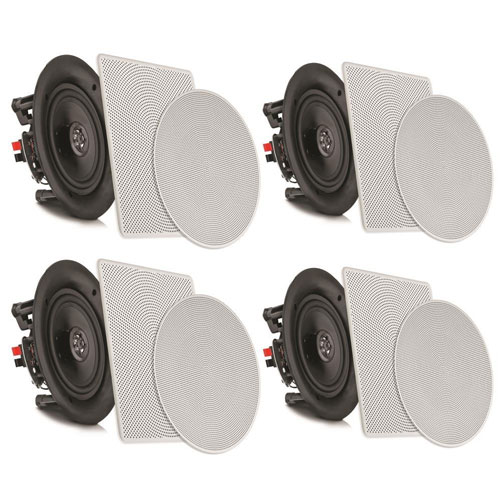 "Pyle 6.5"" 4 Bluetooth Flush Mount In-wall In-ceiling 2-Way Speaker System"