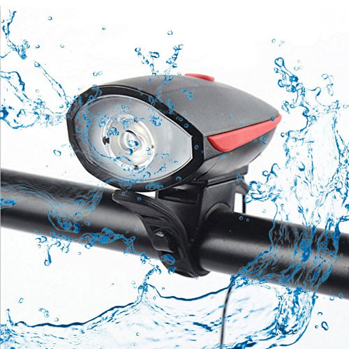 Fineed Bike Light Bicycle Horn USB Rechargeable, Super Bright Bicycle Headlight