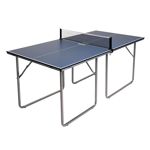 JOOLA Midsize Compact Table Tennis Table Great for Small Spaces Standing Table