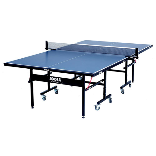 JOOLA Inside 15mm Table Tennis Table with Net Set 10-Min Assembly, Playback Mode, Foldable Halves
