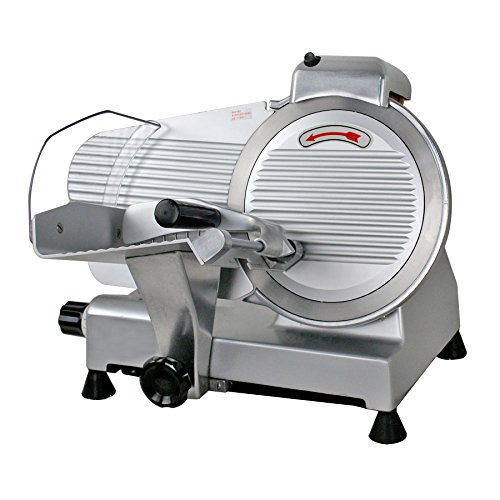 "ZENY 10"" Blade Commercial Meat Slicer 240W 530 RPM Electric Deli Cheese Food Slicer"