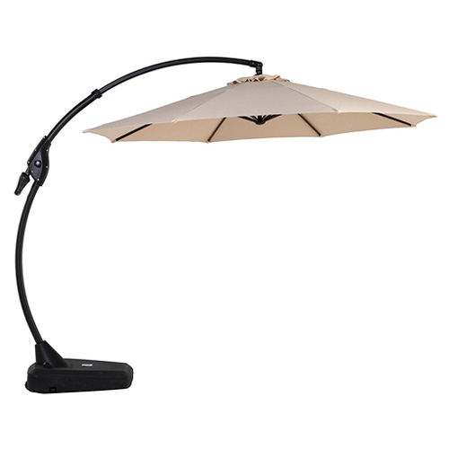 Grand patio Deluxe 10 FT Curvy Aluminum Offset Patio Umbrella with Handle and Crank Cantilever
