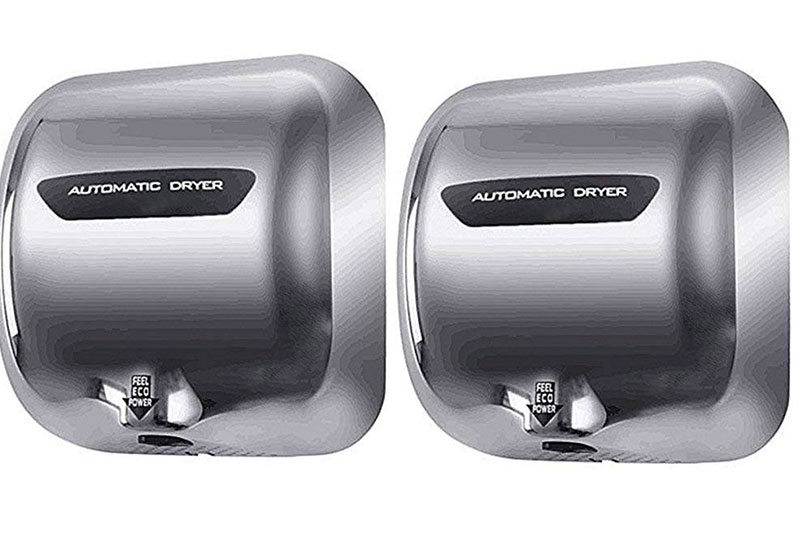 Miidii 1800W Stainless Steel Heavy Duty Automatic Wall-mounted Hand Dryer