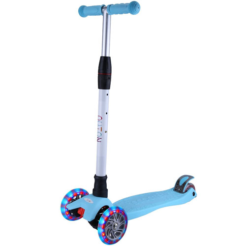 GEI Kick Scooter For Kids 3 Wheel Lean To Steer Adjustable Height PU ABEC-7 Flashing Wheels