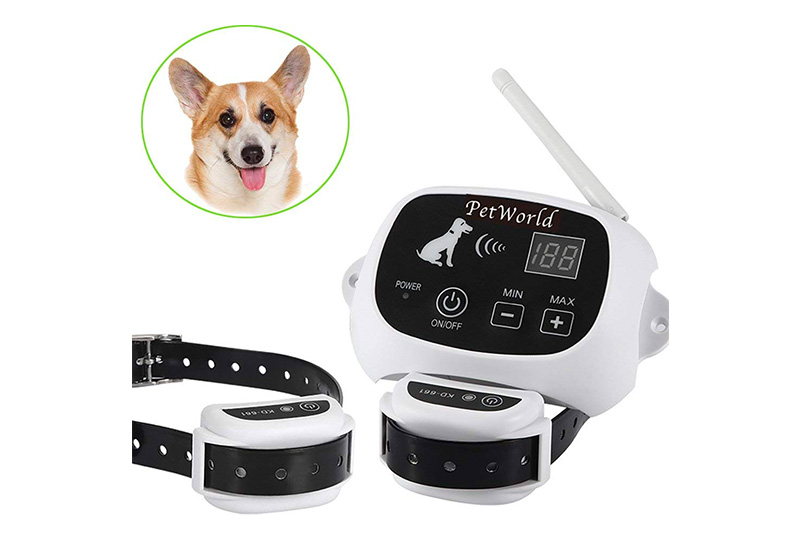 PetWorld 100% Wireless Dog Fence System Outdoor Invisible Pet Containment System Rechargeable Waterproof Collar 550YD Remote Control