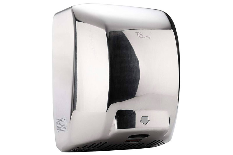 High Speed Heavy Duty Commercial 1800 Watts Automatic Hand Dryer - Stainless Steel